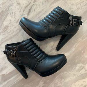GUESS BLACK 4 INCH HEEL BOOT WOMENS 9 1/2